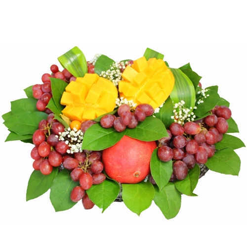 Beautiful Basket of Vine-Fresh Fruits
